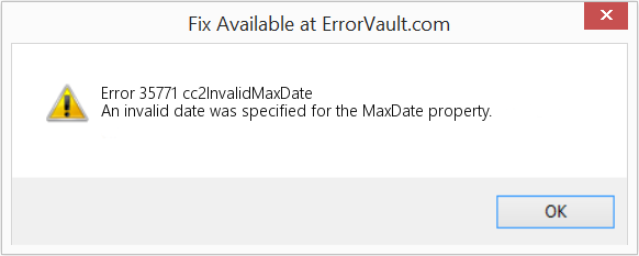 Fix cc2InvalidMaxDate (Error Error 35771)