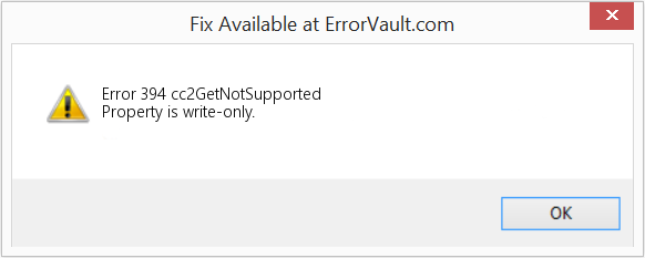 Fix cc2GetNotSupported (Error Error 394)
