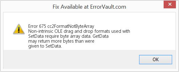 Fix cc2FormatNotByteArray (Error Error 675)