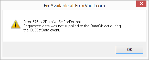 Fix cc2DataNotSetForFormat (Error Error 676)
