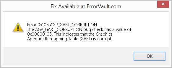 Fix AGP_GART_CORRUPTION (Error Error 0x105)