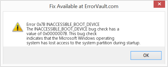 How to fix Error 0x7B (INACCESSIBLE_BOOT_DEVICE) - The