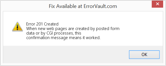 Fix Created (Error Error 201)