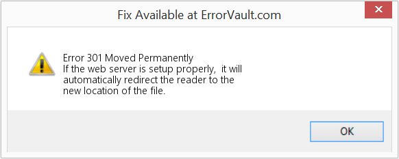 Fix Moved Permanently (Error Error 301)