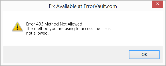 Fix Method Not Allowed (Error Error 405)