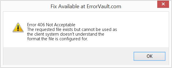 Fix Not Acceptable (Error Error 406)