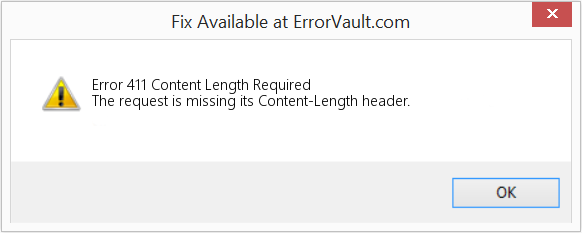 How to fix Error 411 (Content Length Required) - The request is