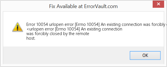 Fix urlopen error [Errno 10054] An existing connection was forcibly closed by the remote host (Error Error 10054)