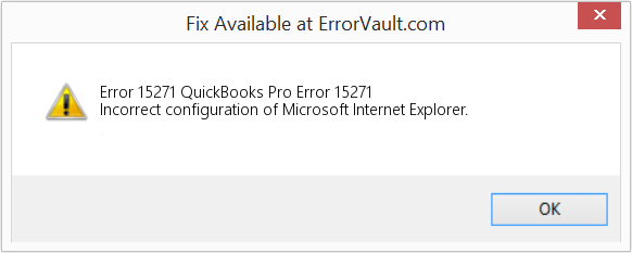 How to fix Error 15271 (QuickBooks Pro Error 15271) - Incorrect