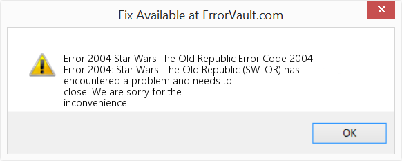Fix Star Wars The Old Republic Error Code 2004 (Error Error 2004)