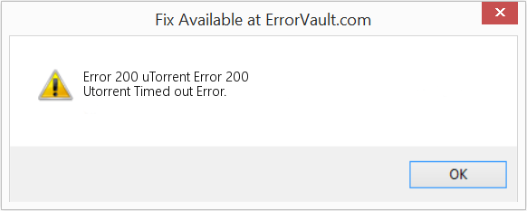 Fix uTorrent Error 200 (Error Error 200)