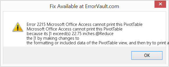 how to fix error 2215 microsoft office access cannot print this
