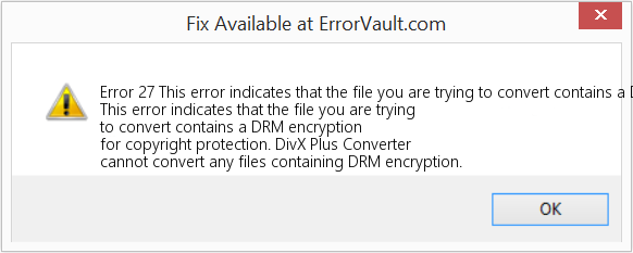 How to fix Error 27 (This error indicates that the file you are