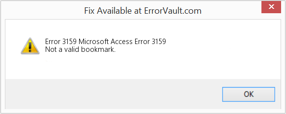 Fix Microsoft Access Error 3159 (Error Error 3159)