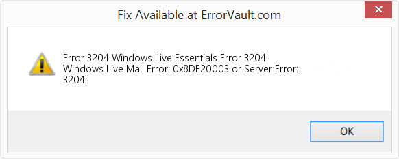 Fix Windows Live Essentials Error 3204 (Error Error 3204)