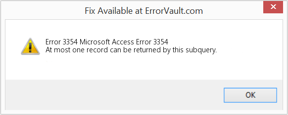 Fix Microsoft Access Error 3354 (Error Error 3354)