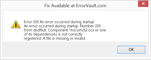 component mscomctl.ocx a file is missing or invalid
