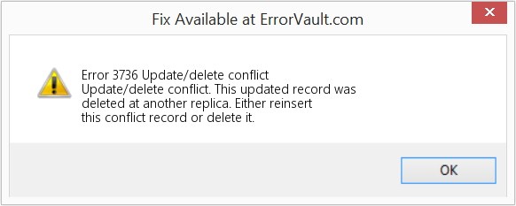 Fix Update/delete conflict (Error Error 3736)