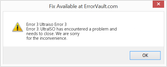 Fix Ultraiso Error 3 (Error Error 3)