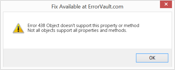Fix Object doesn't support this property or method (Error Error 438)