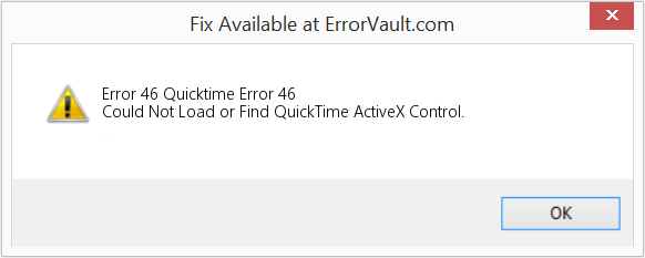 How to fix Error 46 (Quicktime Error 46) - Could Not Load or