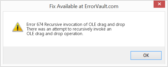 Fix Recursive invocation of OLE drag and drop (Error Error 674)