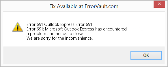 Fix Outlook Express Error 691 (Error Error 691)