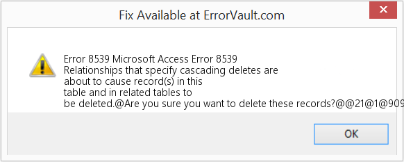 Fix Microsoft Access Error 8539 (Error Error 8539)