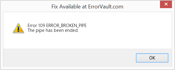 Fix ERROR_BROKEN_PIPE (Error Error 109)
