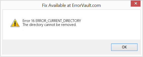 Fix ERROR_CURRENT_DIRECTORY (Error Error 16)