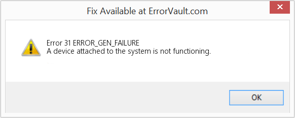 A Device Attached To The System Is Not Functioning Cool How To Fix Error 60 ERRORGENFAILURE A Device Attached To The